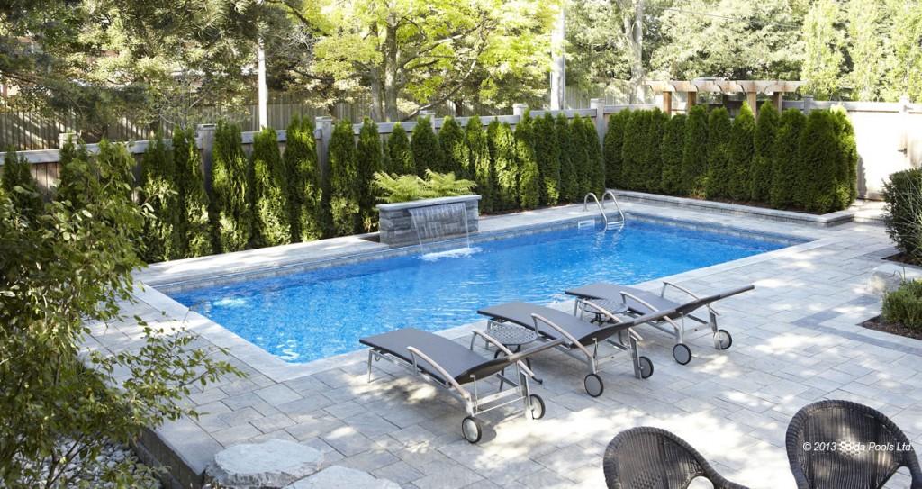 Cedar Hedge Around a Solda Pool